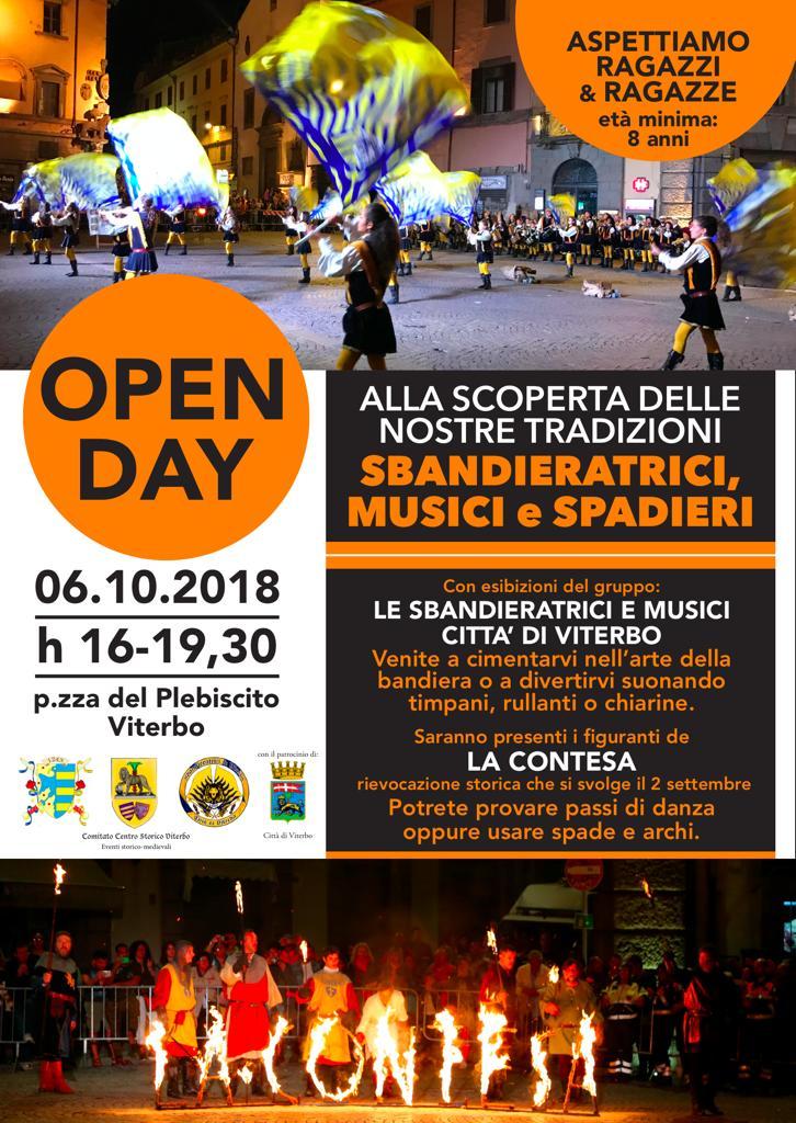 Open Day 2018 – Sbandieratrici e Gruppo Storico Musicale (Aggiornamento)