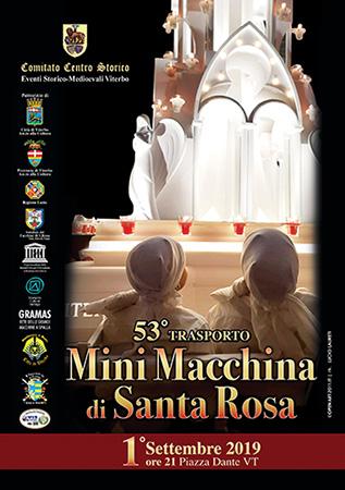 53° trasporto Mini Macchina Santa Rosa informazioni e programma 2019